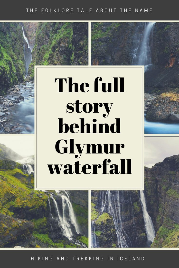 Glymur waterfall is known to be the second highest waterfall in Iceland. But it's less known how Glymur Waterfall got it's name. Read the full story!