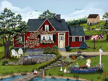 Helping Grandma in the Garden by Sharon Ascherl