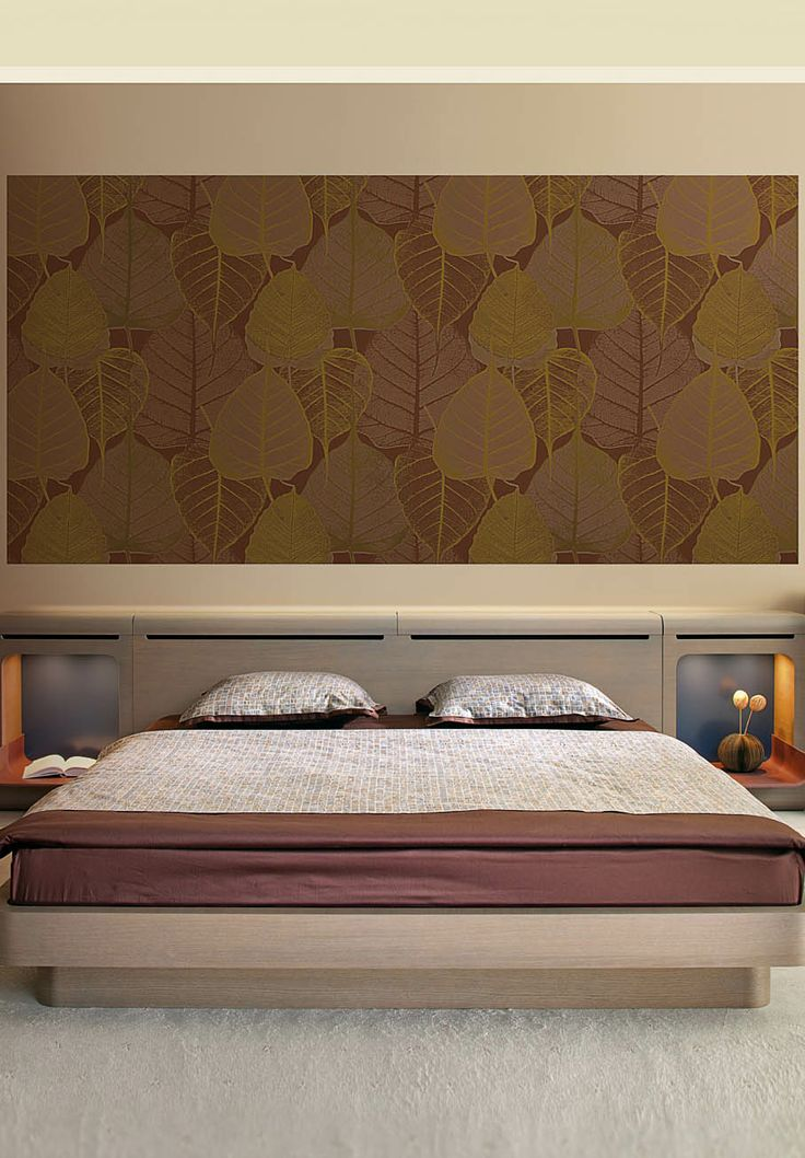 Contemporary bedroom with Batik #wallcoverings. Wallpapers #madeinitaly from designed by Max Martini Home