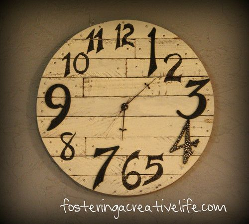 DIY rustic wood wall clock