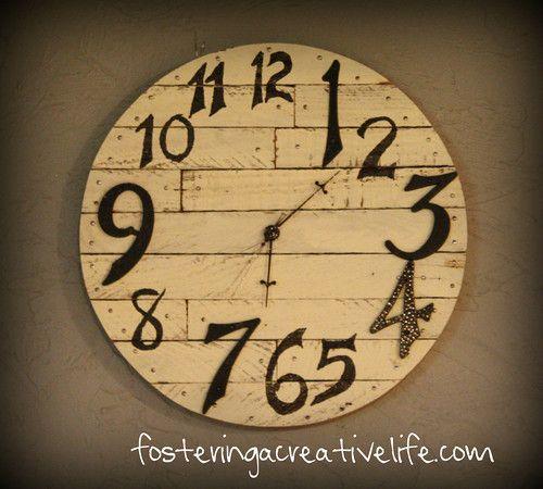 Thrifty Pottery Barn Clock @fosteringacreativelife.com