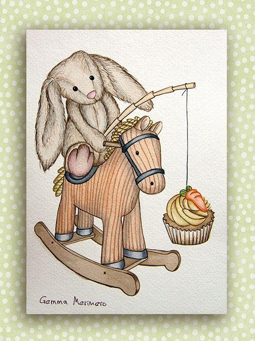 Conejo, cupcake en balancín. (Gemma Merinero)