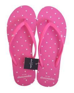 abercrombie girls pink | BRAND-NEW-ABERCROMBIE-KIDS-GIRLS-PINK-HEART-RUBBER-FLIP-FLOPS-SANDALS ...