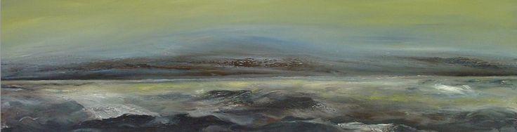 """#Schilderij """"Waddenzee van Mat Leffertstra is te koop op KUNSTmarktplaats.nl. #kunst #olieverf #zeegezicht #water"""