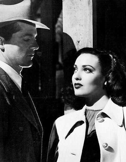 "mildredsfierce: "" Dana Andrews and Linda Darnell in Fallen Angel, 1945. """