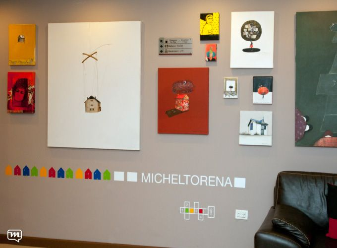 Hotel Pirén by Materia 360. Gallery+art+design+walls