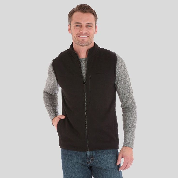 Men's Outdoor Vest Black XX Large - Wrangler, Size: Xxl