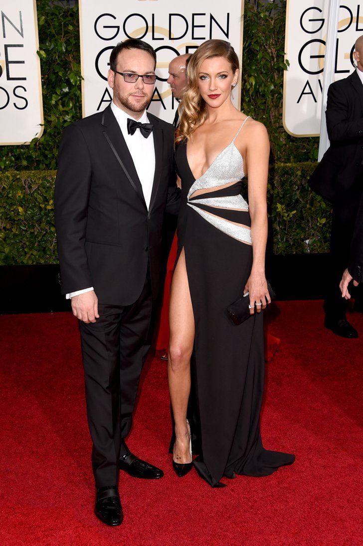 Pin for Later: Les Couples Ont Pris le Tapis Rouge D'assaut Lors des Golden Globes Katie Cassidy et Dana Brunetti