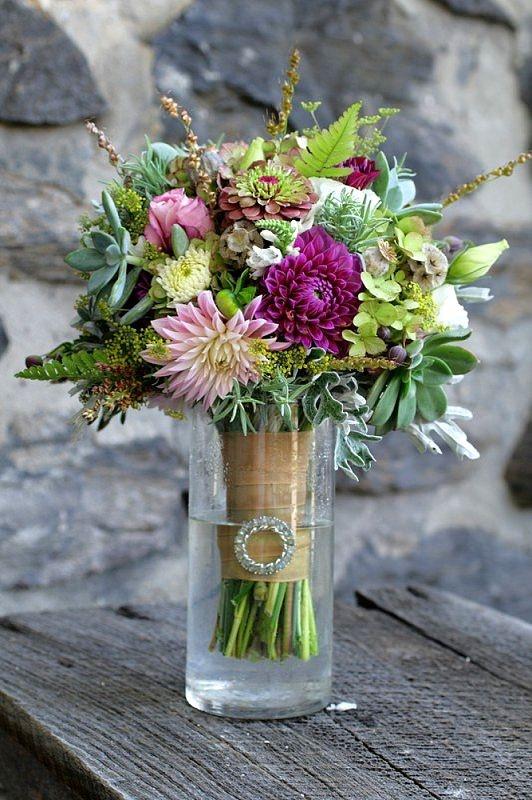 October Wedding Flowers Purple : October purple wedding flowers