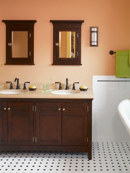 Craftsman Style Bathroom Tile : Cleaning up a classic craftsman and vanities