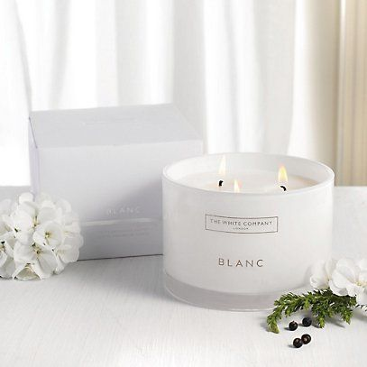 Blanc Large 3-Wick Candle - Candles | The White Company £70