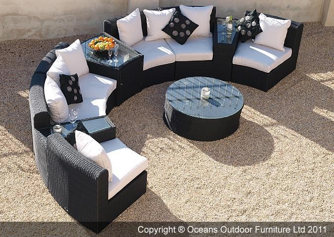 the fabulous marco polo semi circular sofa set is ideal for patios or