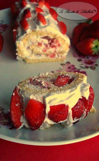#Rotolo #panna e #fragole #ricetta #GialloZafferano #BlogGZ