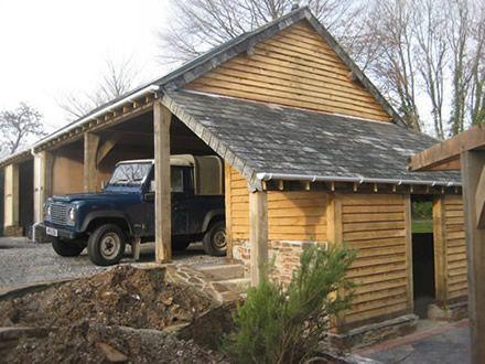 64 best outbuildings images on pinterest garage garages for Garage extension designs