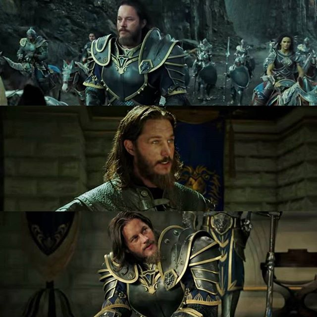 Photo from vikingsaf. Travis Fimmel amazingly playing a role in the all new movie Warcraft.