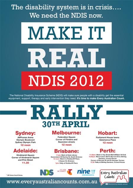Make it Real rally poster