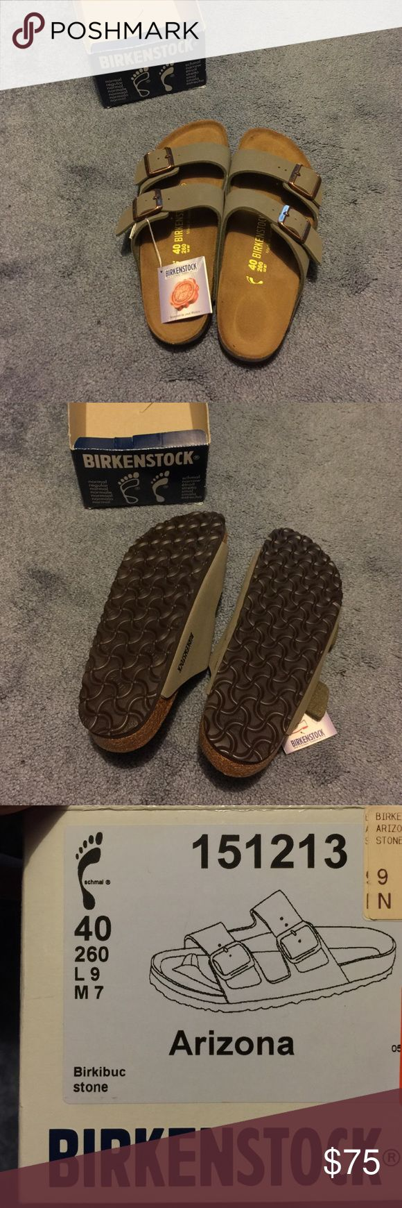 Birkenstock Arizona size 40 Brand New. Purchased over the Memorial Day holiday weekend. Color is too close to what I already have in a pair of Birkis. No flaws to note. Birkenstock Shoes Sandals