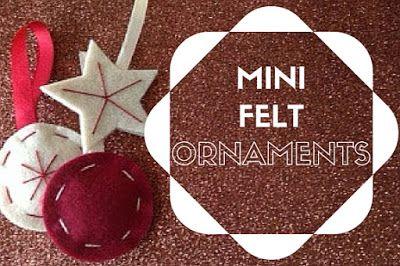 Mini felt ornaments