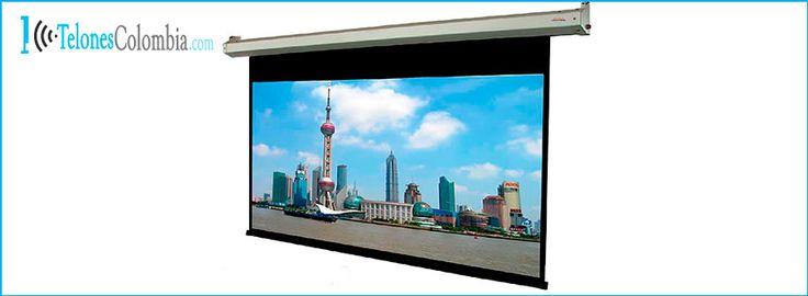 Pantalla para proyector con formato 16:9 de 353x198 cms