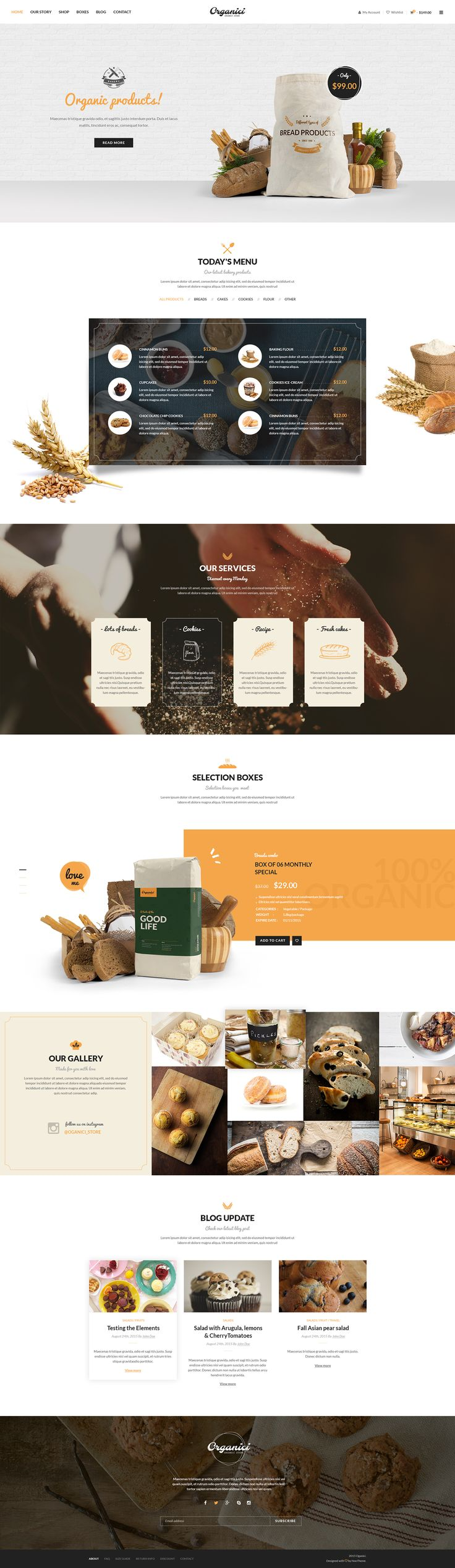 Organici - Organic Store WordPress Theme on Behance