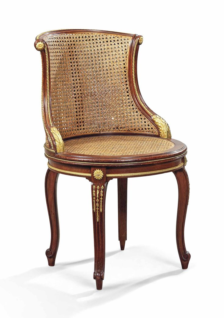 date unspecified A FRENCH ORMOLU-MOUNTED MAHOGANY FAUTEUIL DE BUREAU BY FRANÇOIS LINKE, PARIS, LATE 19TH/EARLY 20TH CENTURY Price realised  GBP 17,500