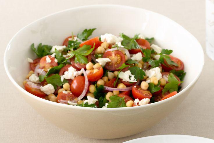 Chickpea, Tomato And Feta Salad Recipe - Taste.com.au