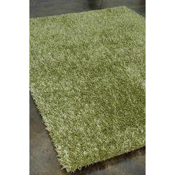 Caldera Hand-tufted Green Shag Rug (3'6 x 5'6)