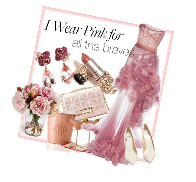 """Pink for every spirit"" by bernadett-soos on Polyvore featuring Anyallerie, Charlotte Russe, Mark & Graham, Marchesa and Francesco Russo"