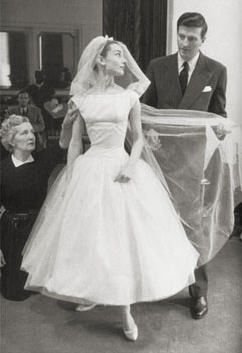This is my dream wedding dress. Audrey Hepburn wore this wedding dress in the film Funny Face.