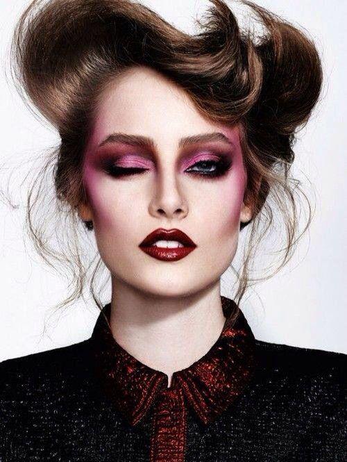Over the top 1970s disco makeup