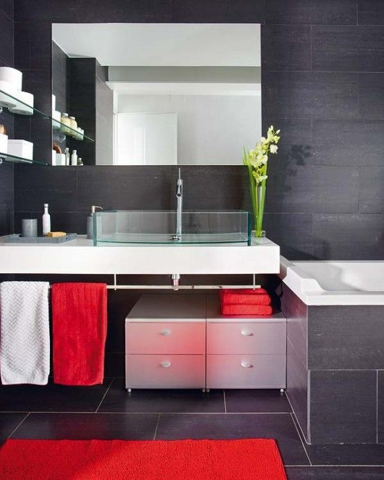 Best Bathrooms Images On Pinterest Home Decorations - Small bathroom accent tables for bathroom decor ideas