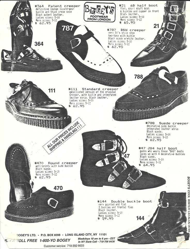 80s shoes - Creepers, winklepickers. I still have some of these.