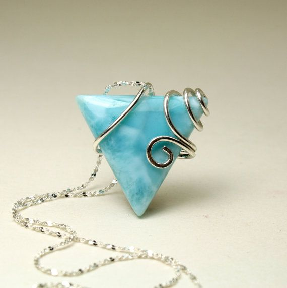30 best Larimar pendants and wire work images on Pinterest | Wire ...