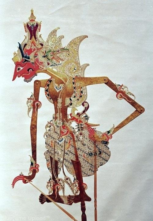Javanese shadow puppet. An intricate work of art.