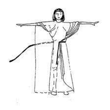 calasiris: prenda de la indumentaria militar egipcia, era una pieza mas larga que la ancha y completamente plisada