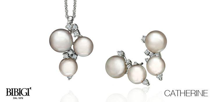 #Bibigi | Collezione #Catherine | Gioielli in oro bianco, perle e diamanti