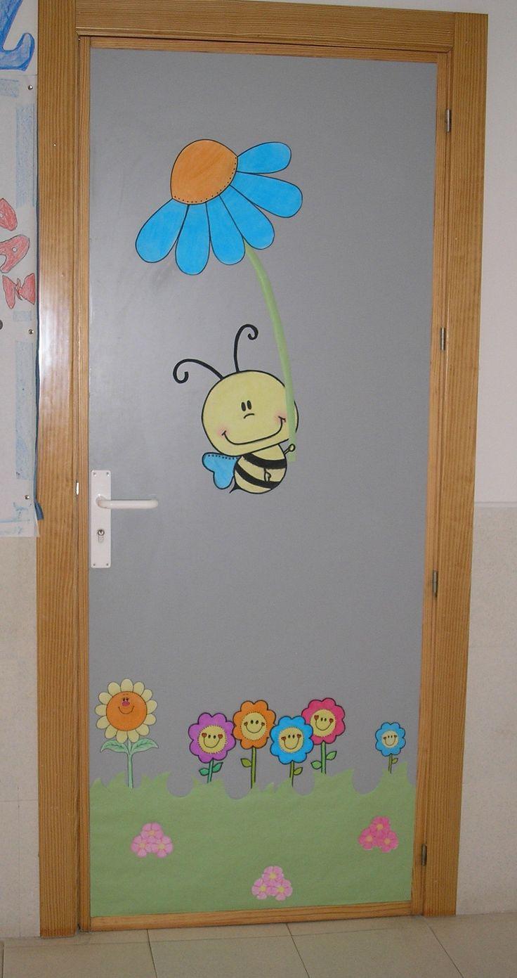 Mi puerta de Infantil vestida de Primavera. Cole de Monterrubio de Armuña (Salamanca)