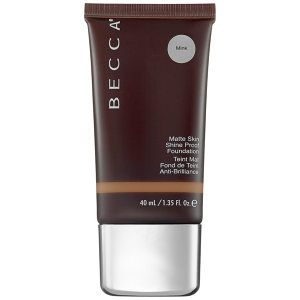 BECCA Ever-Matte Shine Proof Foundation in Mink - chocolate brown, neutral to cool undertones #sephora