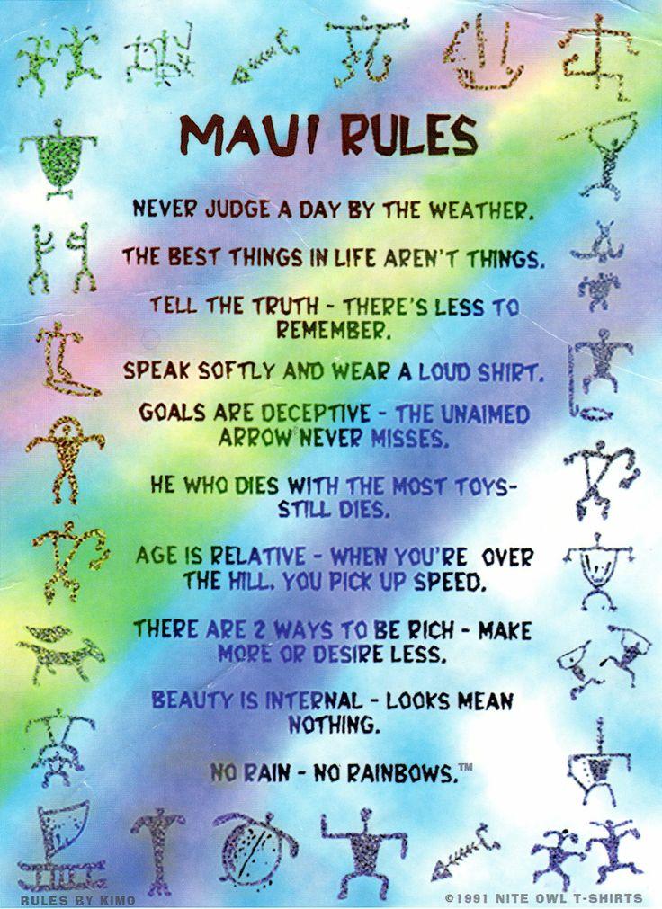 Maui Rules | No Ka Oi.