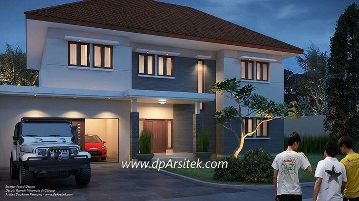 Sketsa 3D Desain Rumah Klasik Minimalis 2 Lantai di Cilacap Jawa Tengah.   #arsitek by Daukhan Permana - www.dpArsitek.com