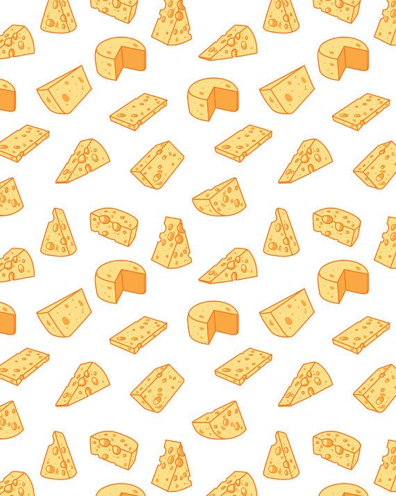 Cheese pattern including seamless. Hand drawn cheese