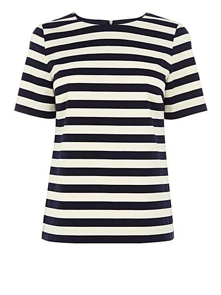 Nautical stripe short sleeve top