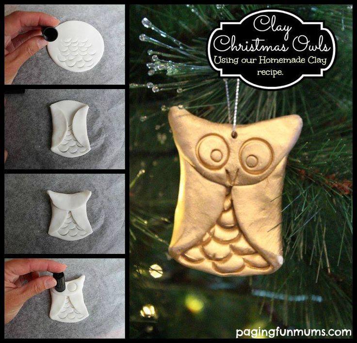 Een uil voor in de kerstboom.