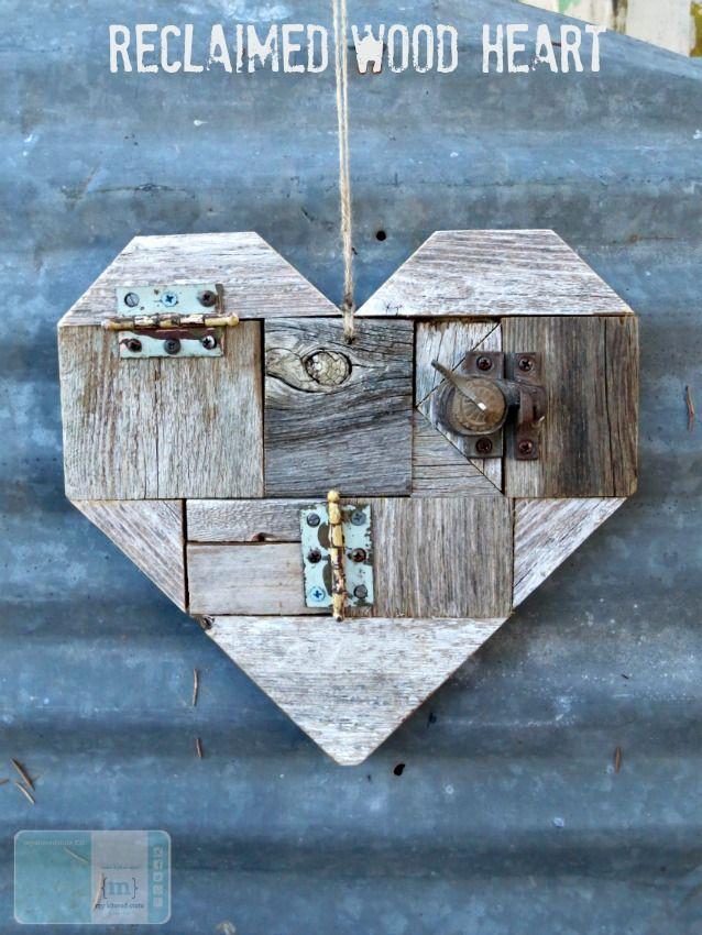 DIY Reclaimed Wood Heart