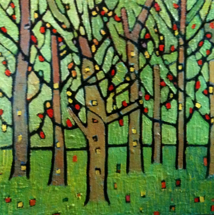Trees by #DEAF2012 artist Laura Hains. #trees #green #painting http://www.artwanted.com/artist.cfm?ArtID=47341