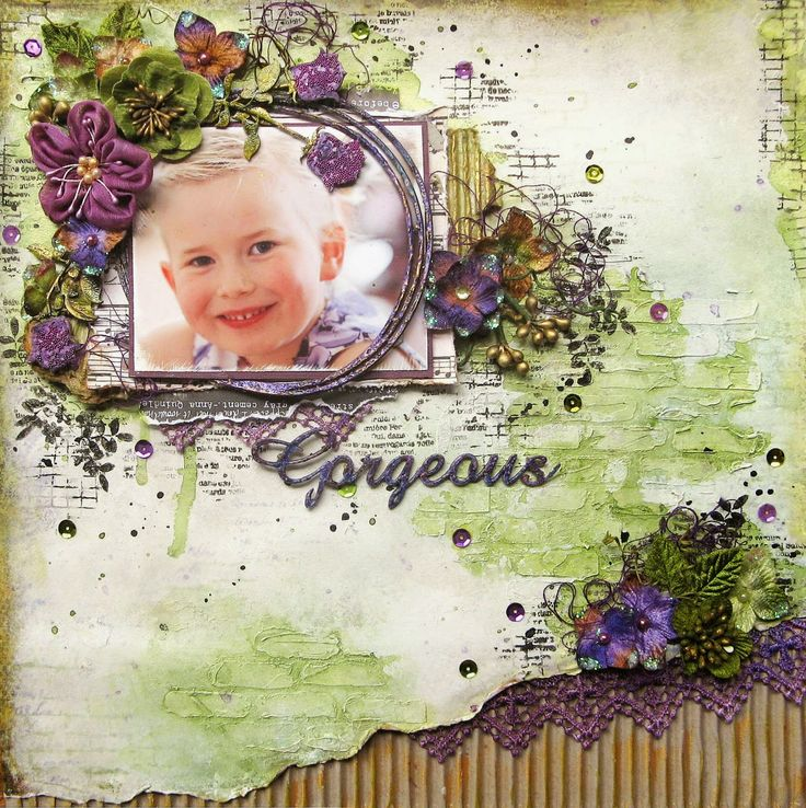 "The Scrapbook Store January Sketch Challenge""Gorgeous"""