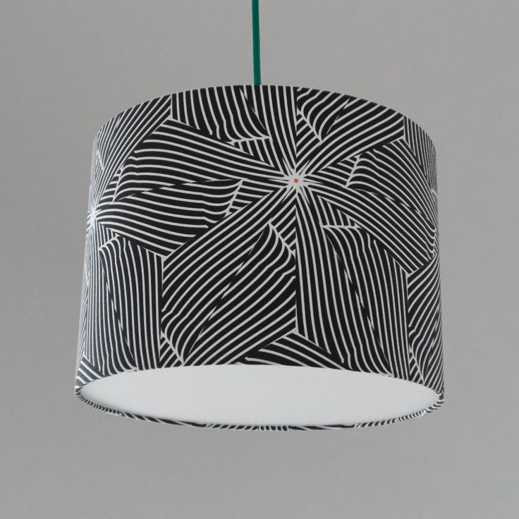 Large Black And White Bold Lampshade For The Home