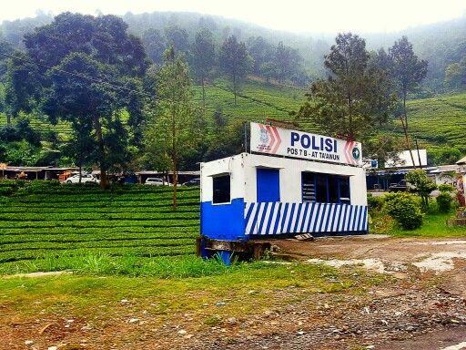 A small police camp in Puncak, Bogor.