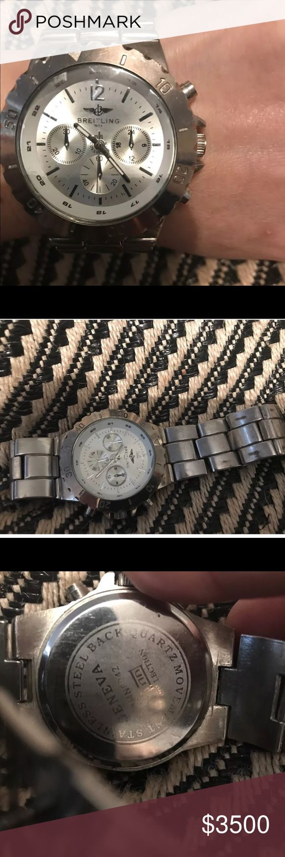 Breitling watch Used small brands.   . used with small brands and needs new battery Breitling Accessories Watches