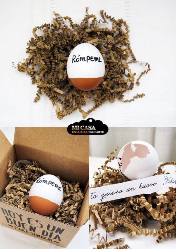 Con amor y con humor: te quiero un huevo Valentines Day. Love. Egg.